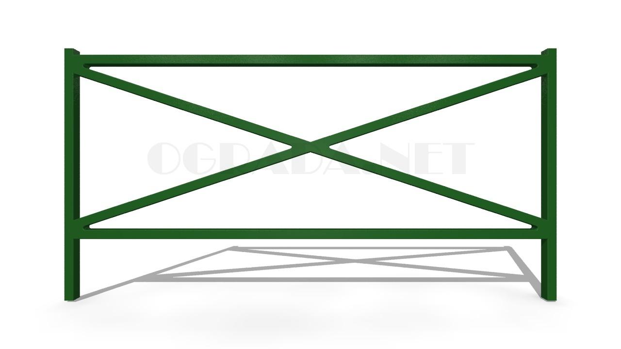 Декоративное ограждение ОД-3 зеленое