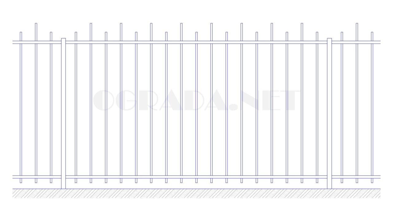 Забор сварной металлический ЗС 1800-2