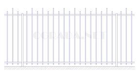 Купить металлический забор сварной ЗС 1800-2 - www.ograda.net