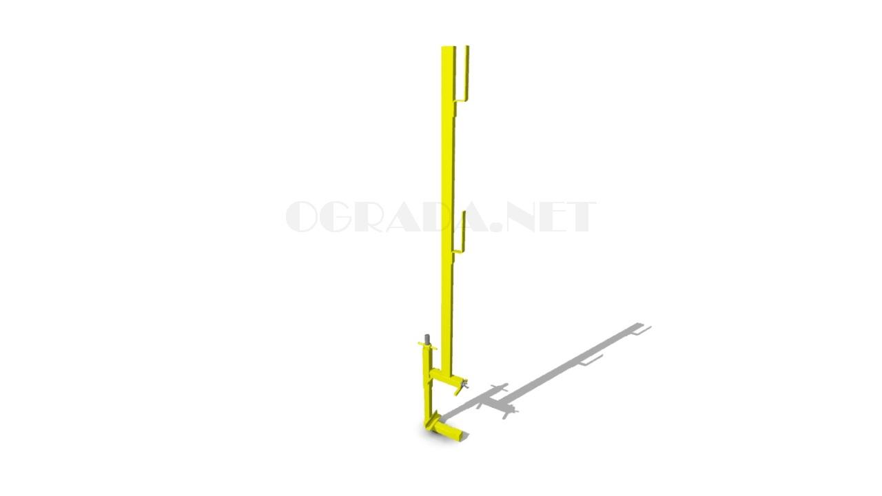 Стойка ограждения лестничного марша СОЛ-1 желтая