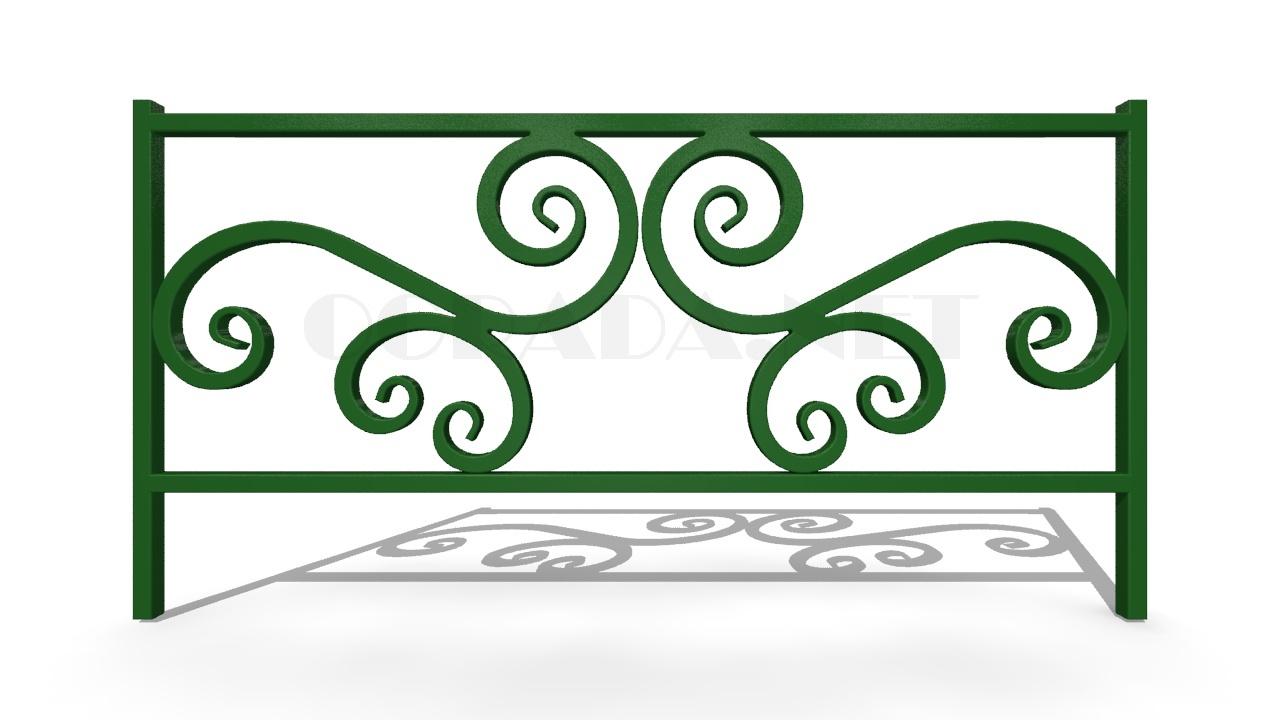 Декоративное ограждение ОД-6 зеленое