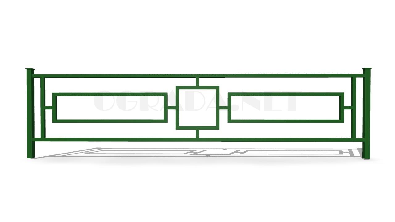 Ограждение газонное ОГ-1 зеленое
