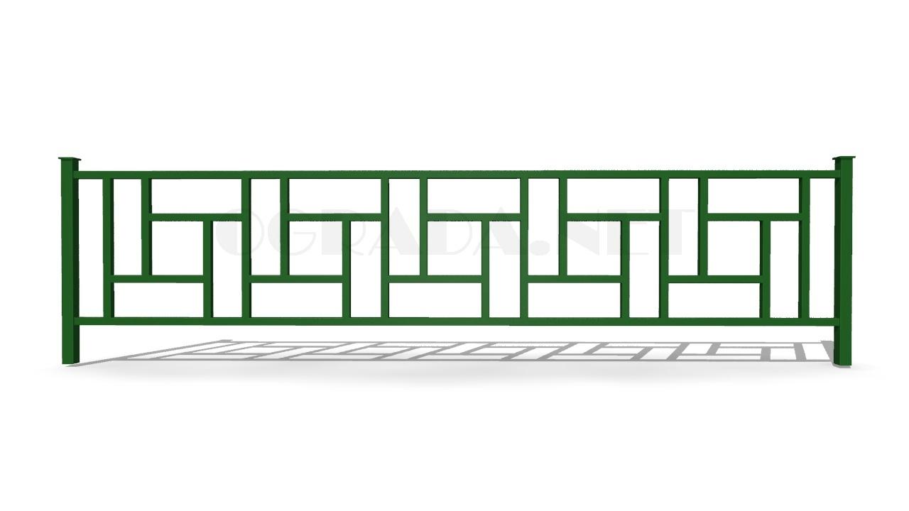 Ограждение газонное ОГ-3 зеленое