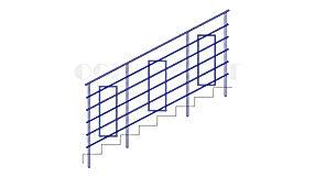Купить лестничное ограждение ОЛ-2 (перила) - www.ograda.net