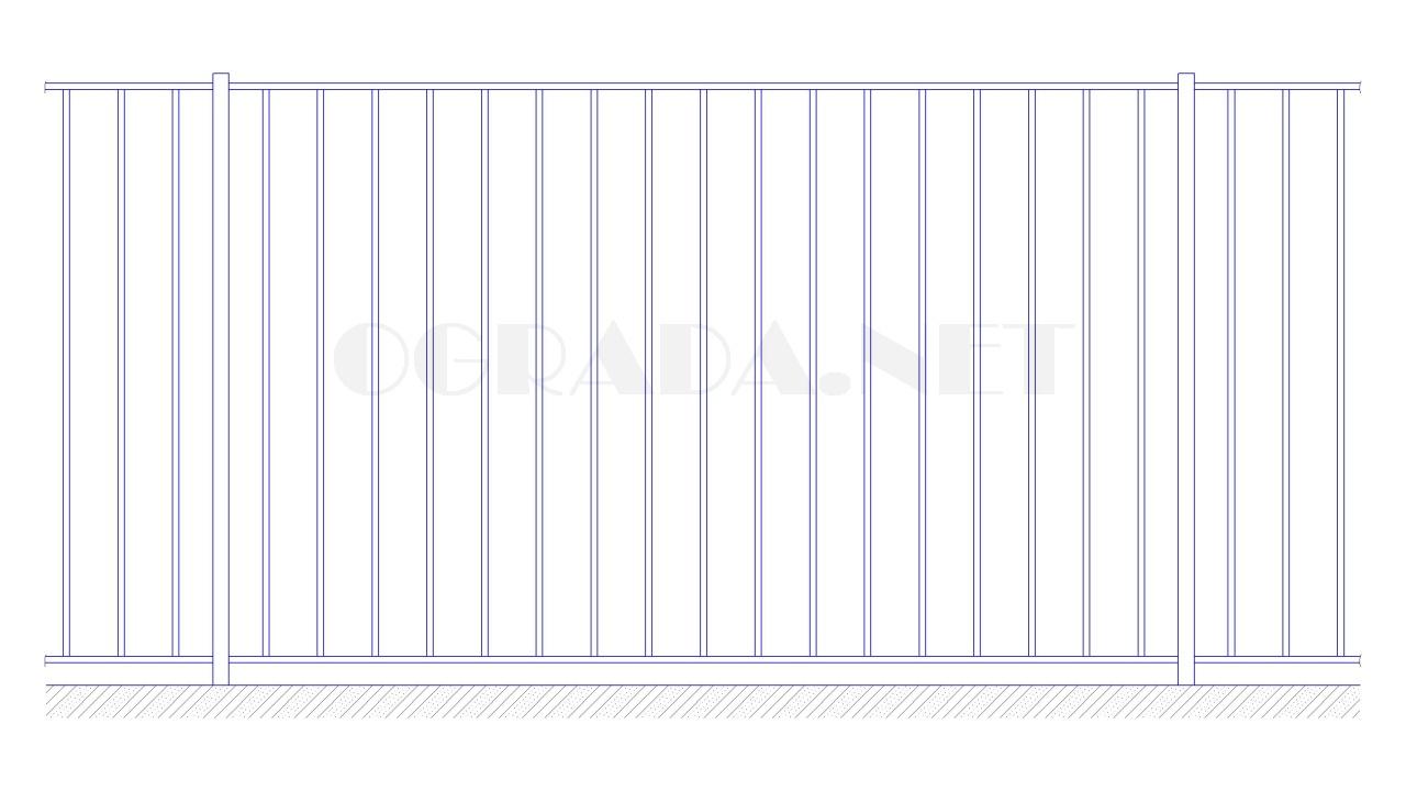 Забор сварной металлический ЗС 1800-1