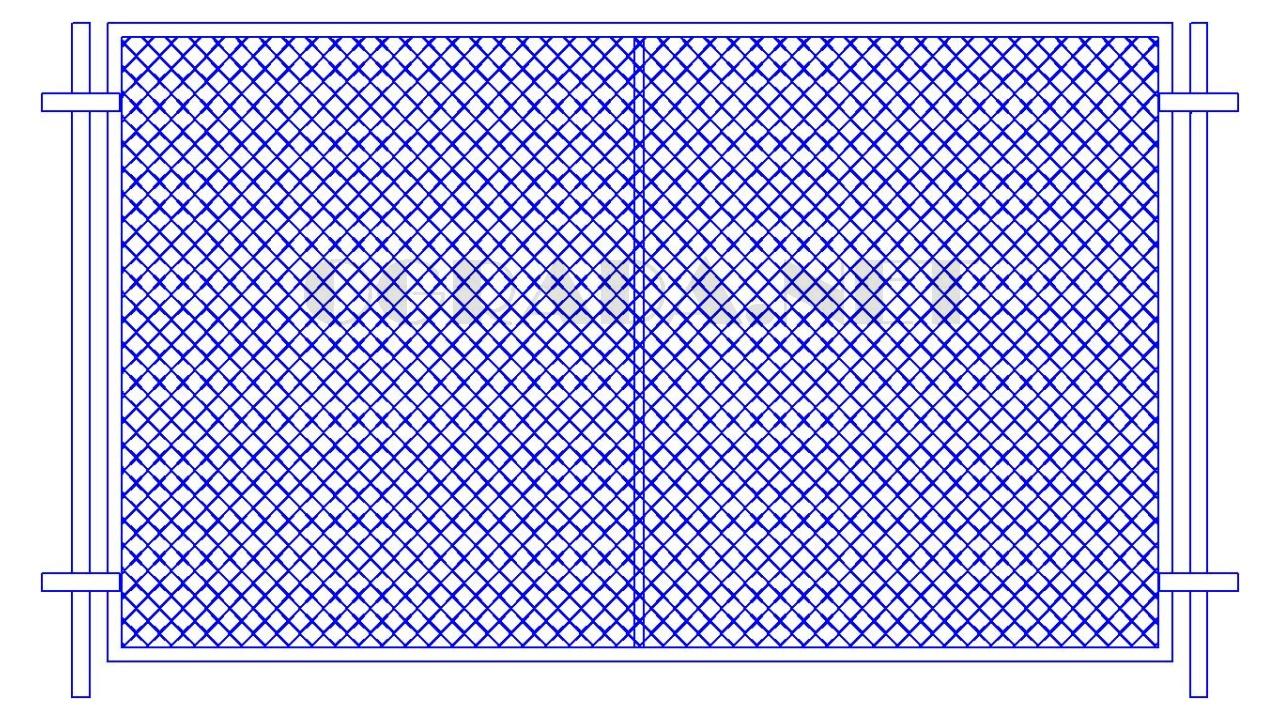 Забор из сетки рабицы ЗР-1850