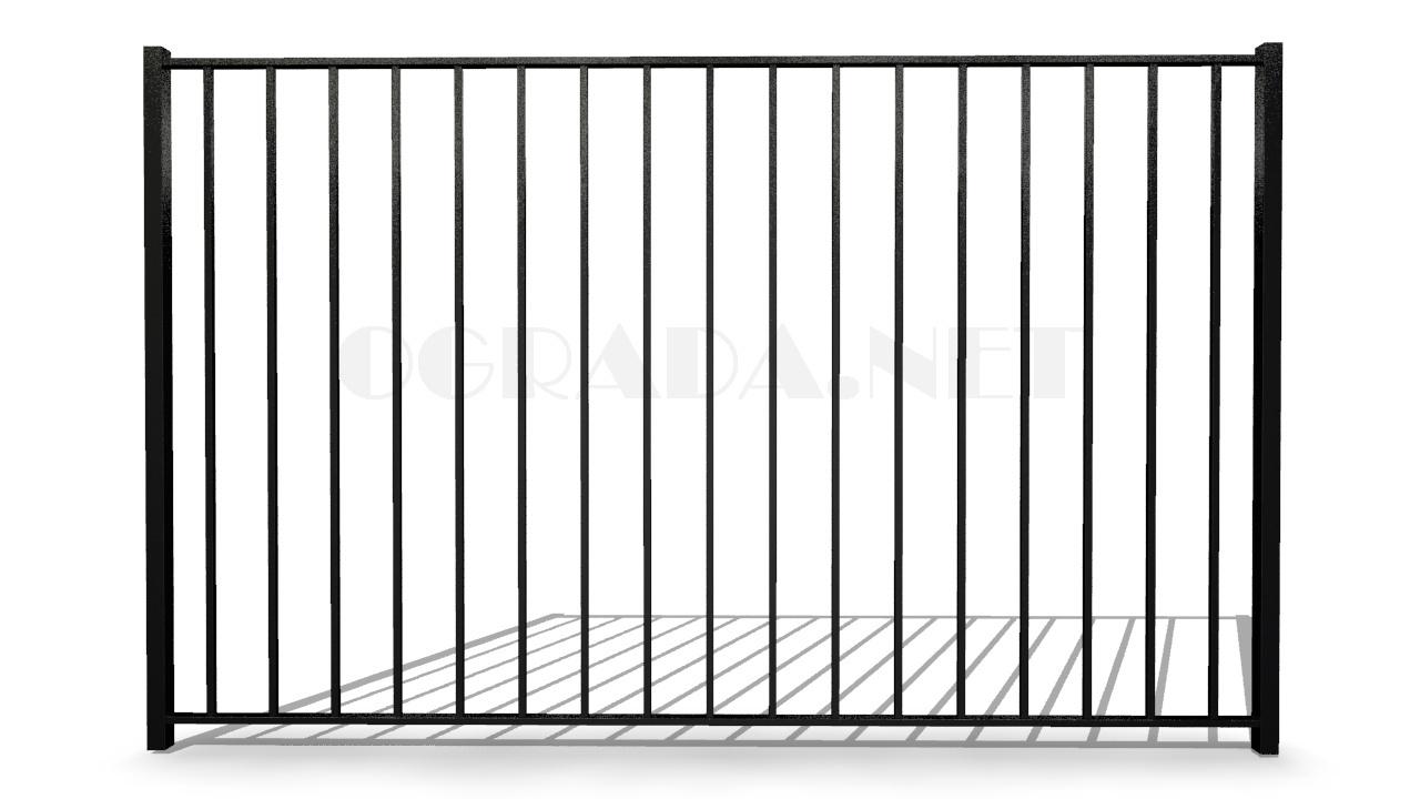 Забор сварной металлический ЗС 1800-1 черный