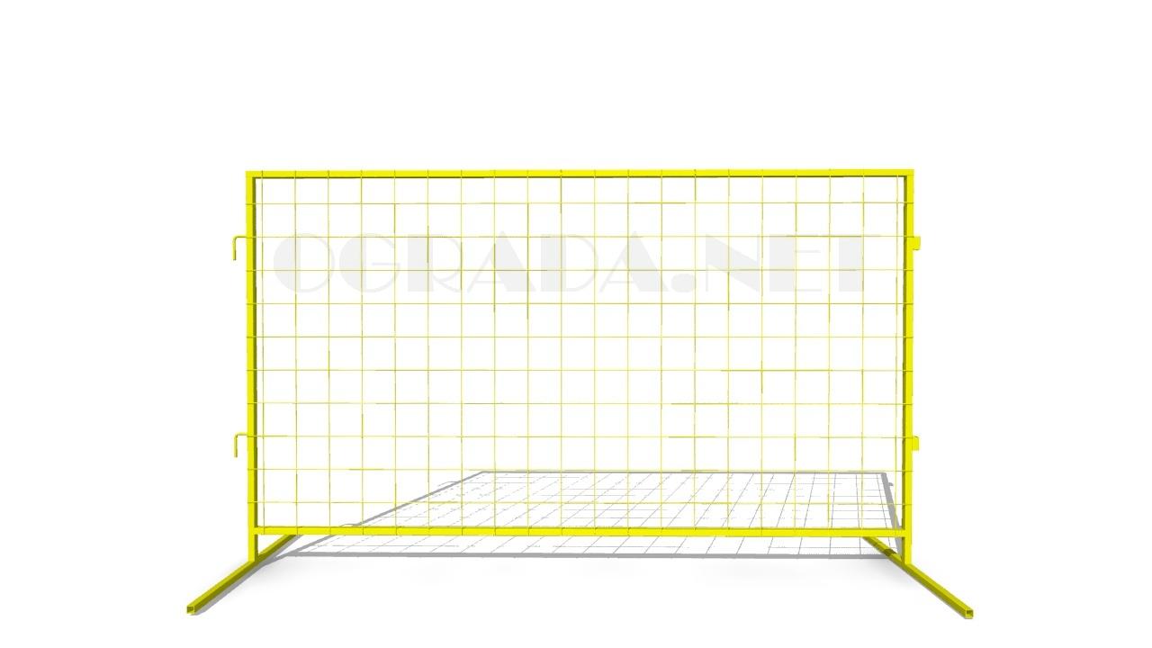 Инвентарное строительное ограждение ИСО-12 желтое