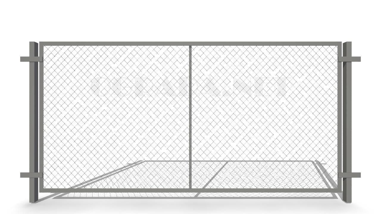 Забор из сетки рабицы ЗР-1550 серый