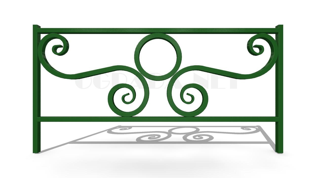 Декоративное ограждение ОД-5 зеленое
