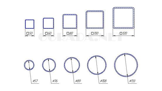 Размеры заборных столбов