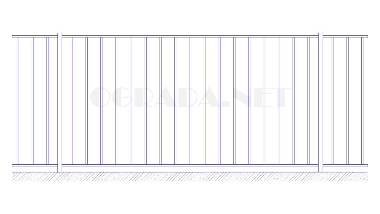 Забор сварной металлический ЗС 1500-1