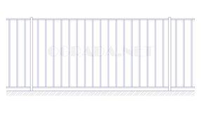 Купить металлический забор сварной ЗС 1500-1 - www.ograda.net