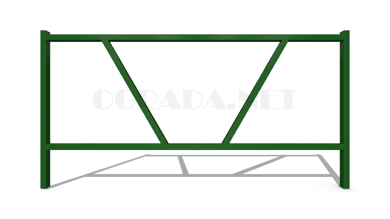 Декоративное ограждение ОД-1 зеленое