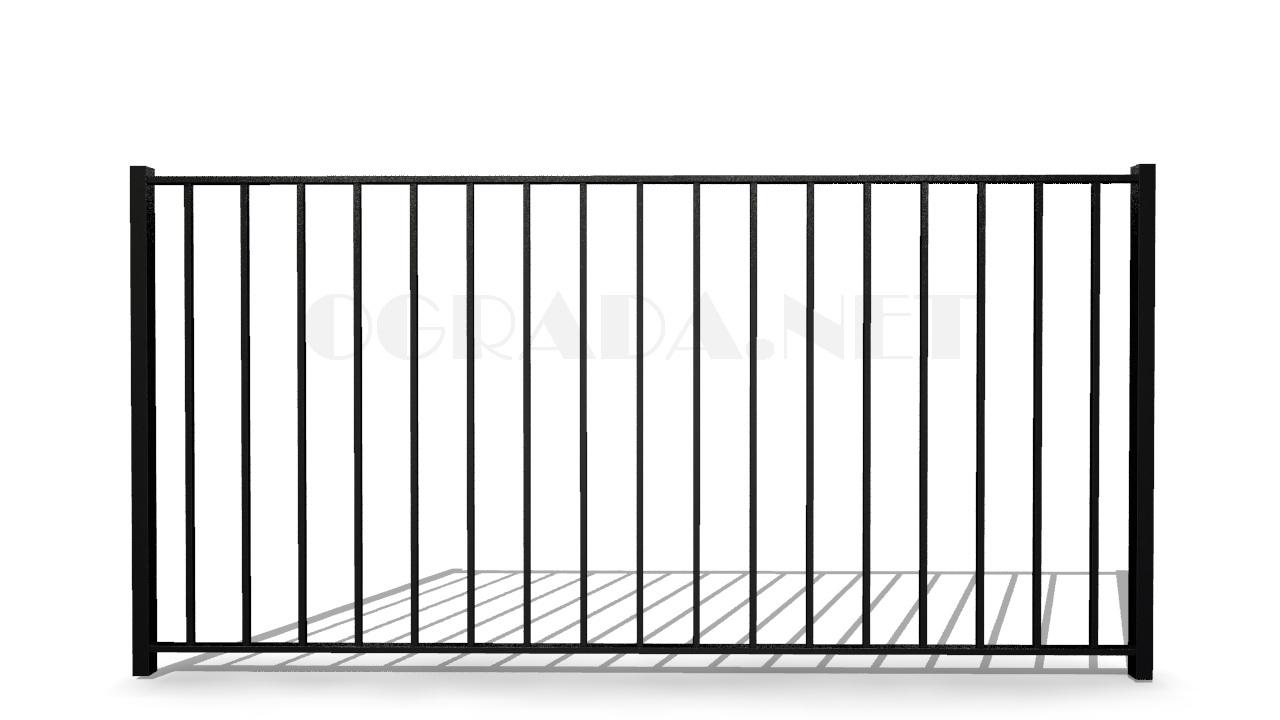 Забор сварной металлический ЗС 1500-1 черный