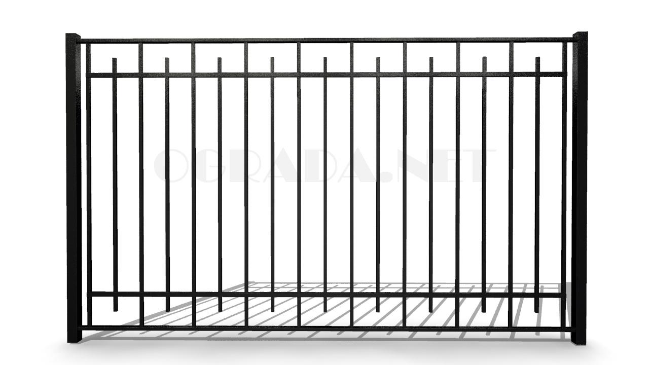 Забор сварной металлический ЗС 1800-3 черный
