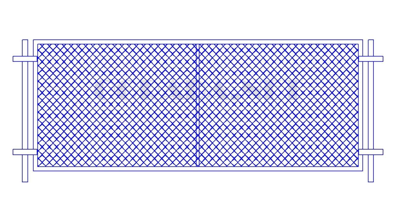 Забор из сетки рабицы ЗР-1250