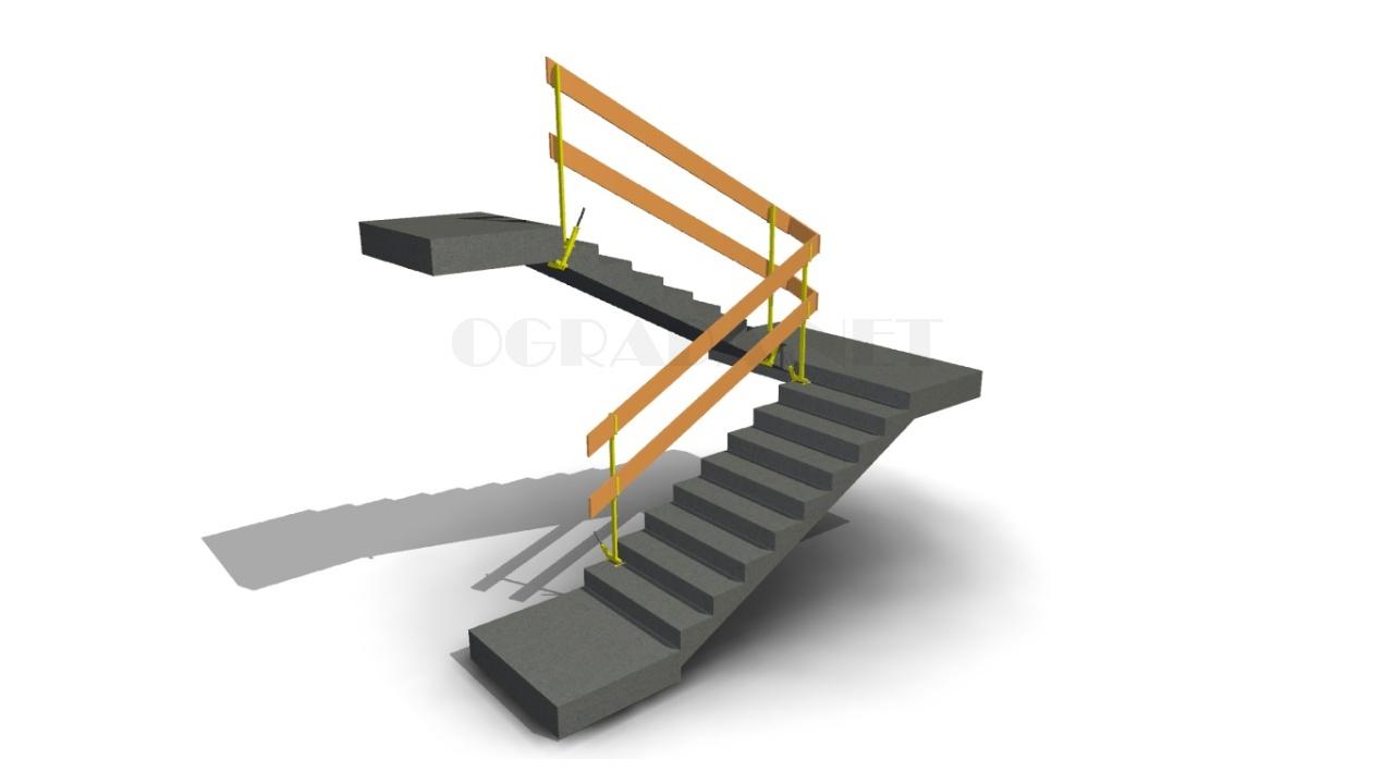 Стойка ограждения лестничного марша СОЛ-1 в сборе