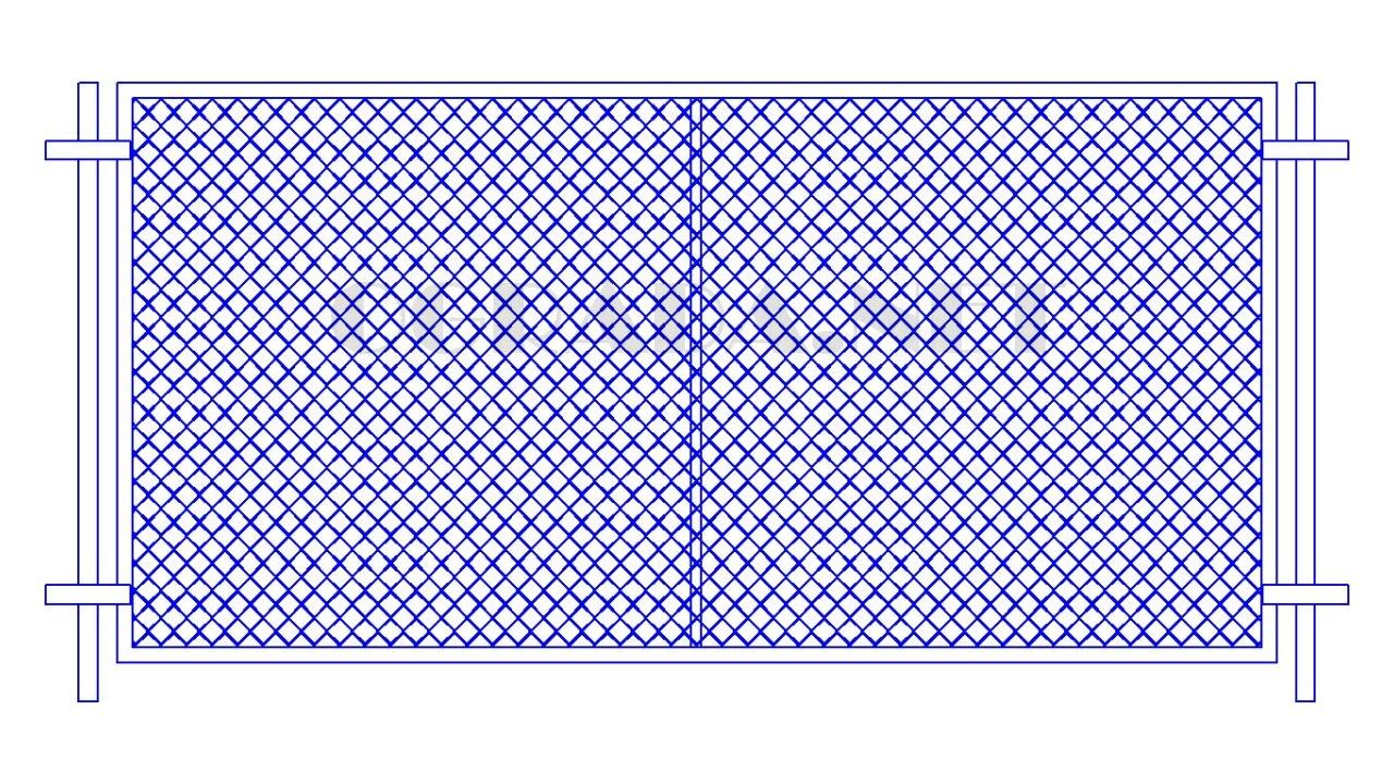 Забор из сетки рабицы ЗР-1550