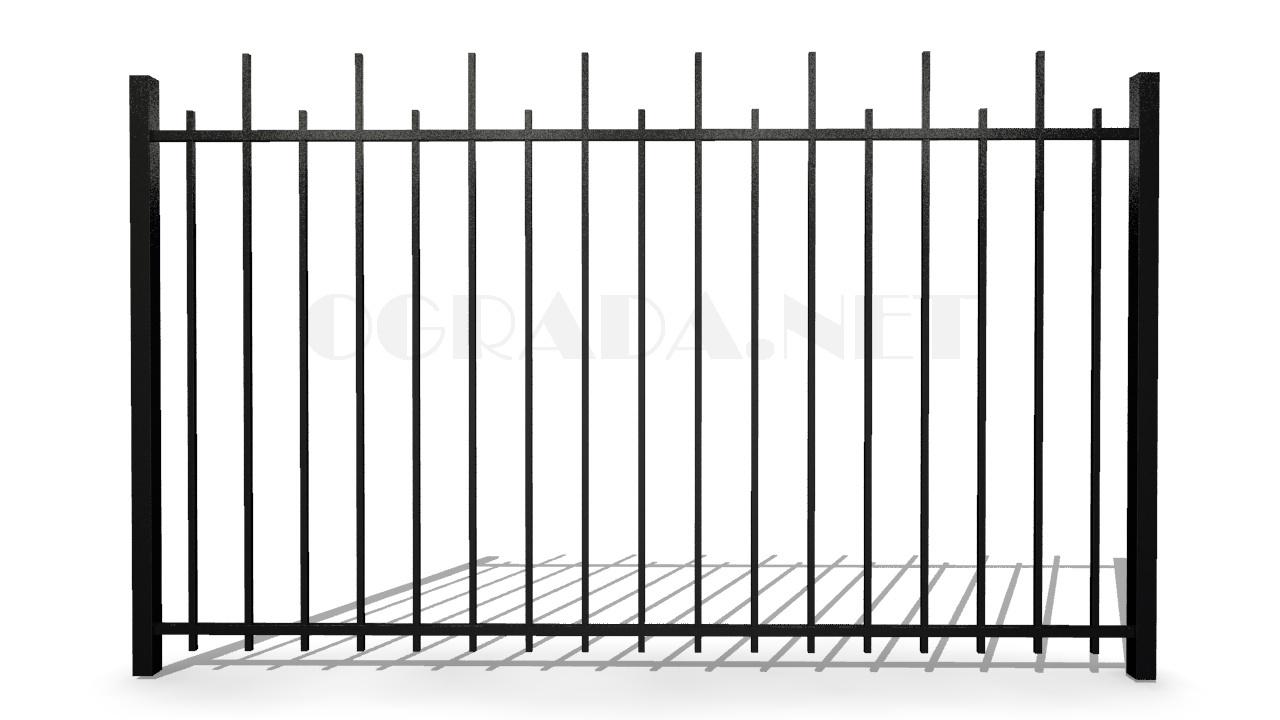 Забор сварной металлический ЗС 1800-2 черный