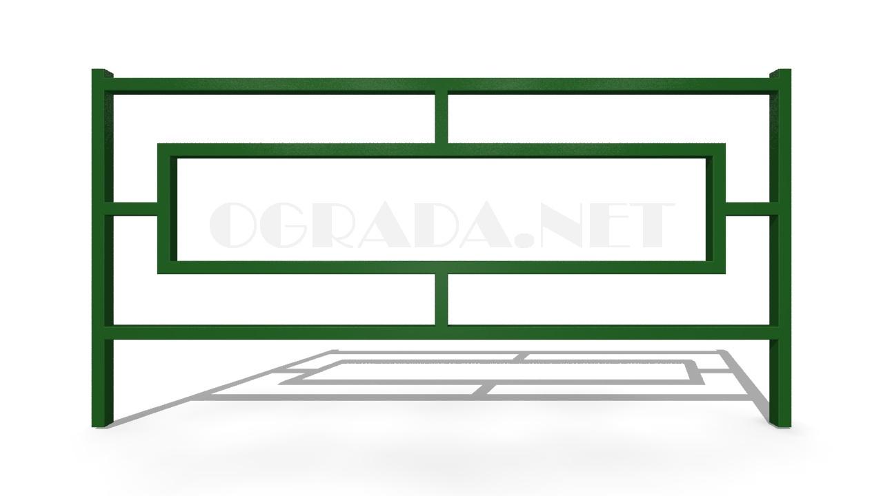 Декоративное ограждение ОД-4 зеленое