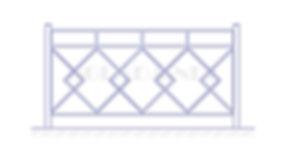 Купить пешеходное ограждение ОП-6 - www.ograda.net