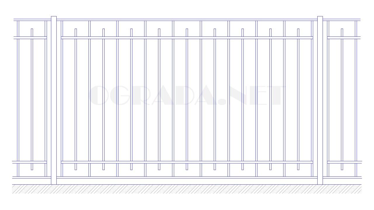 Забор сварной металлический ЗС 1800-3