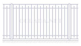 Купить металлический забор сварной ЗС 1800-3 - www.ograda.net