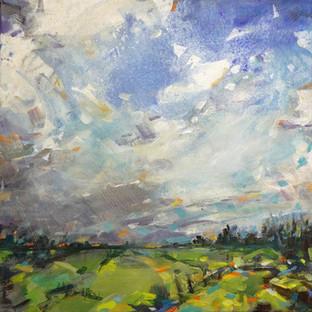 Sonne und Regen, 30 x3 0cm