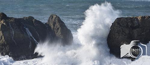 Arch Beach Wave Crash