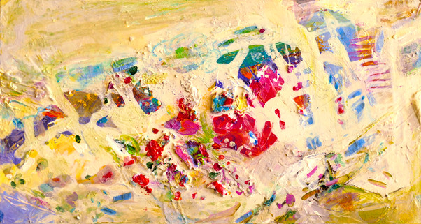 SmartArt Rote Blüten abstract