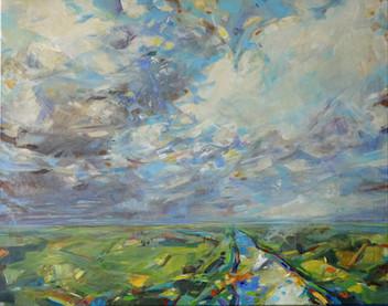 Hinter dem Horizont geht´s weiter, 100 x 80cm