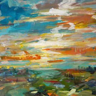 Abendstimmung15 x15 cm