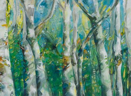 Einblick in meine Ausstellung Teil 04, Inspiration: Bäume