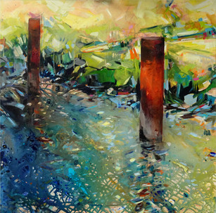 Duckdalben, 80 cm x 80 cm