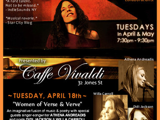 """Special Residency Show 4/18: """"Women of Verse & Verve"""""""
