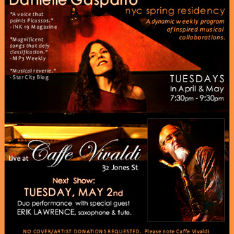 TUES 5/2 w/Erik Lawrence - A Sweet Residency Show Reunion