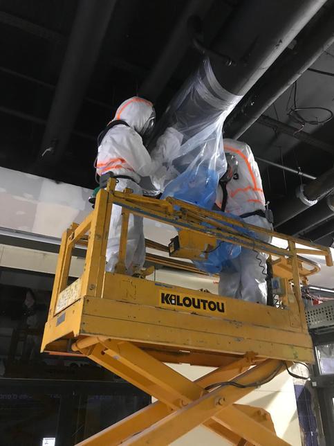 Intervention SS4 sur tuyau du réseau de clim et évacuation des déchets