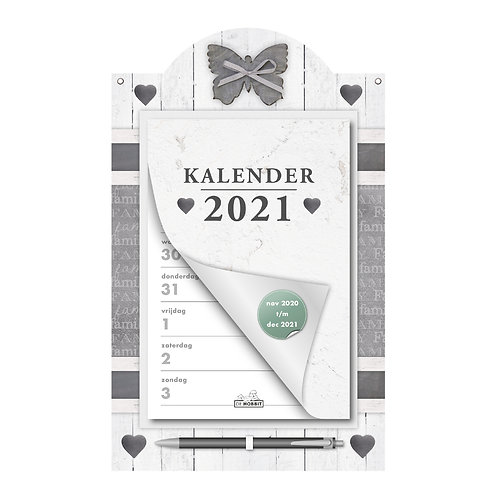 Weekscheurkalender Home Wit 2021