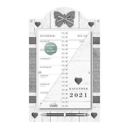 Omslagkalender Luxe Home Wit 2021