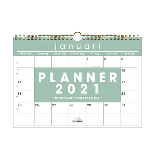 Maandplanner Basic D1 2021