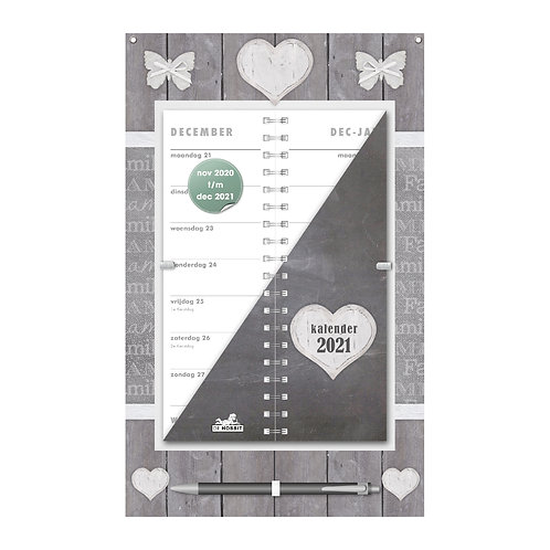 Omslagkalender Home Grijs 2021
