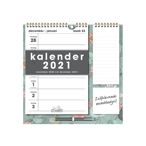 Weekkalender Memo Rechts D2 2021