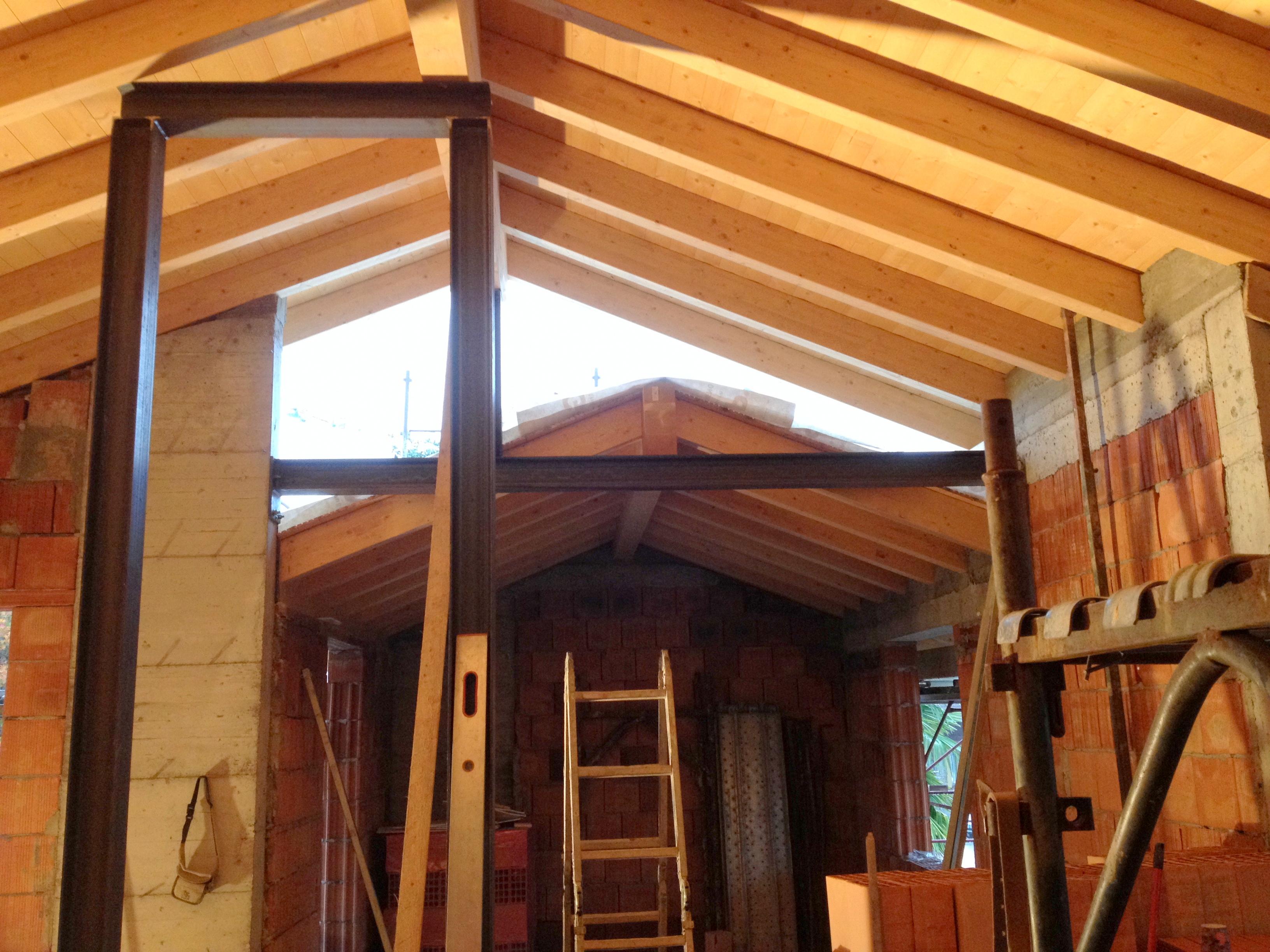 villa singola dettaglio tetto
