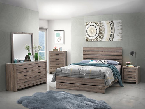 Brantford 5Pc Bedroom Set in Barrel Oak