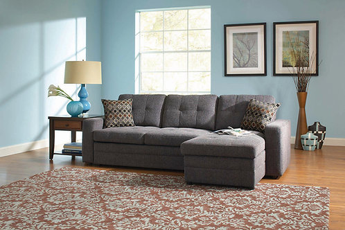 Gus sectional sleeper Charcoal gray with storage