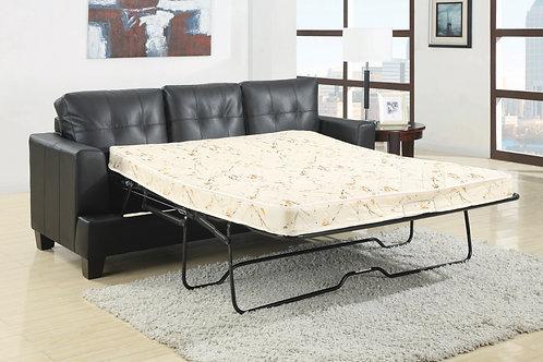 Samuel Sleeper Sofa Black Leather