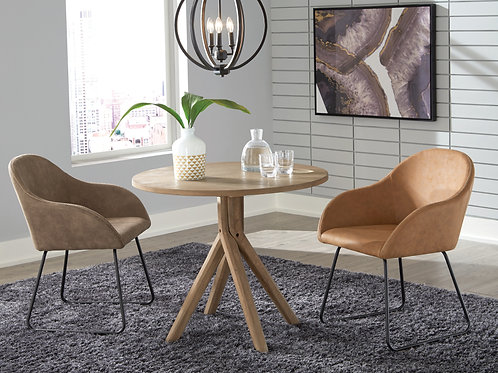 Arcadia Twisted Round Dining Table With Two Chairs