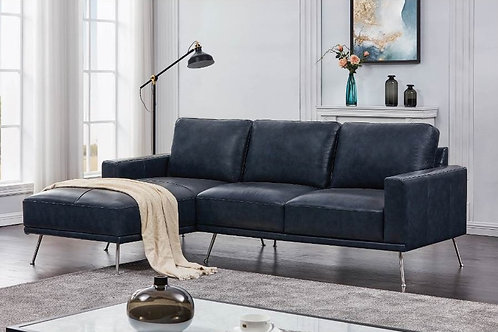 Narrot Track Arm Sectional Navy Blue