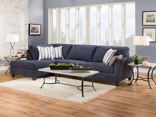 Simmons Prelude Navy Blue Sectional